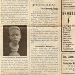 """Articolo di giornale pubblicato sullo """"LO SCULTORE E IL MARMO"""" del 22 agosto 1930, documento d'archivio - Fondazione Giuseppe Mozzanica."""
