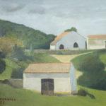 Giuseppe Mozzanica, Tipici stazi galluresi, 1972, olio su masonite, 40 x 30 cm, Pinacoteca – Fondazione Giuseppe Mozzanica.