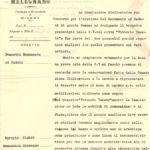 Documento per commissione da parte del Comune di Melegnano per realizzazione Monumento ai Caduti, 28 luglio 1926, Archivio - Fondazione Giuseppe Mozzanica.