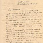 Lettera da parte di Ferruccia Cappi del 17 settembre del 1930, documento d'archivio - Fondazione Giuseppe Mozzanica.
