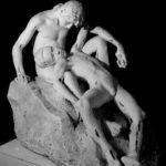 Giuseppe Mozzanica, Il piccolo bagnante convalescente, 1920, gettato in iscagliola, 98 x 103 x 116 cm, Fondazione Giuseppe Mozzanica.