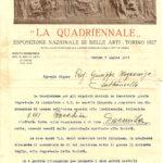 """Richiesta d'acquisto per il """"Barabin"""" da parte della Società promotrice per le Belle Arti di Torino del 7 luglio 1927, documento d'archivio - Fondazione Giuseppe Mozzanica."""
